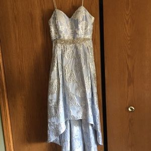 Cachet Light Blue Prom Dress